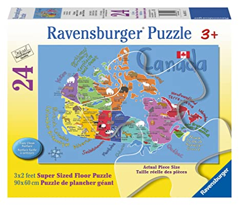 Ravensburger Canada Map Floor Puzzle (24 Piece) on