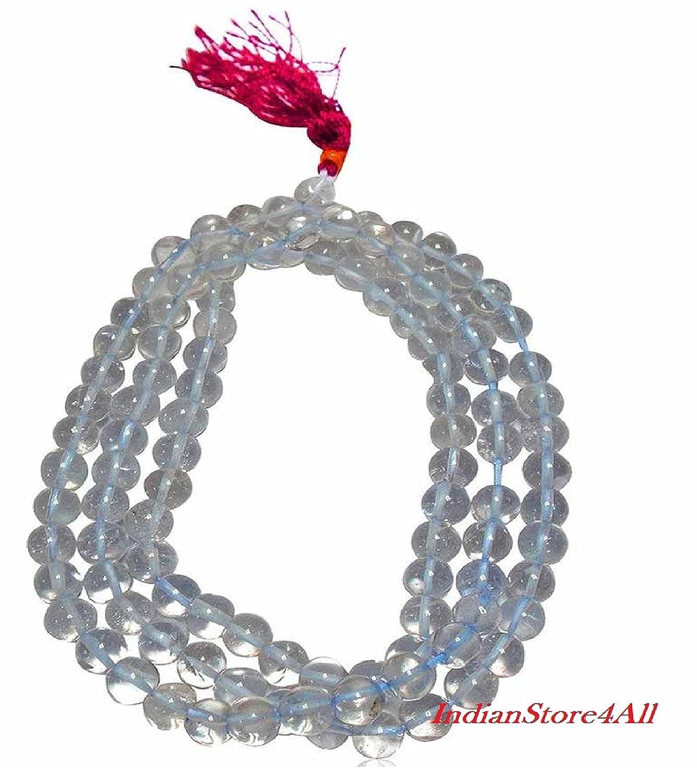 IndianStore4All Crystal Quartz!! Prayer JAPAMALA Necklace ...