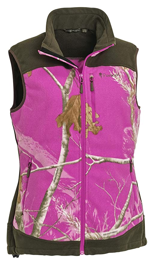 Pinewood 8363 Chaleco - Henrietta Chaleco para Mujer Realtree Ap Rosa®/Caza Verde