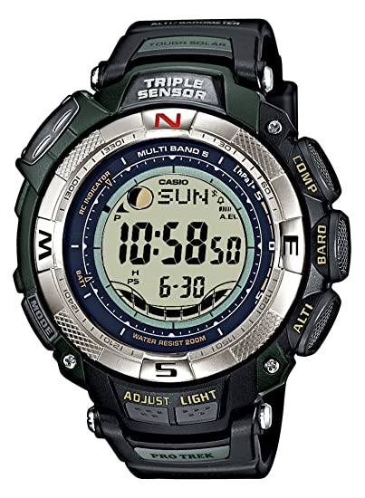 8860b47458d7 CASIO Sport Pro Trek PRW-1500-1VER - Reloj unisex de cuarzo