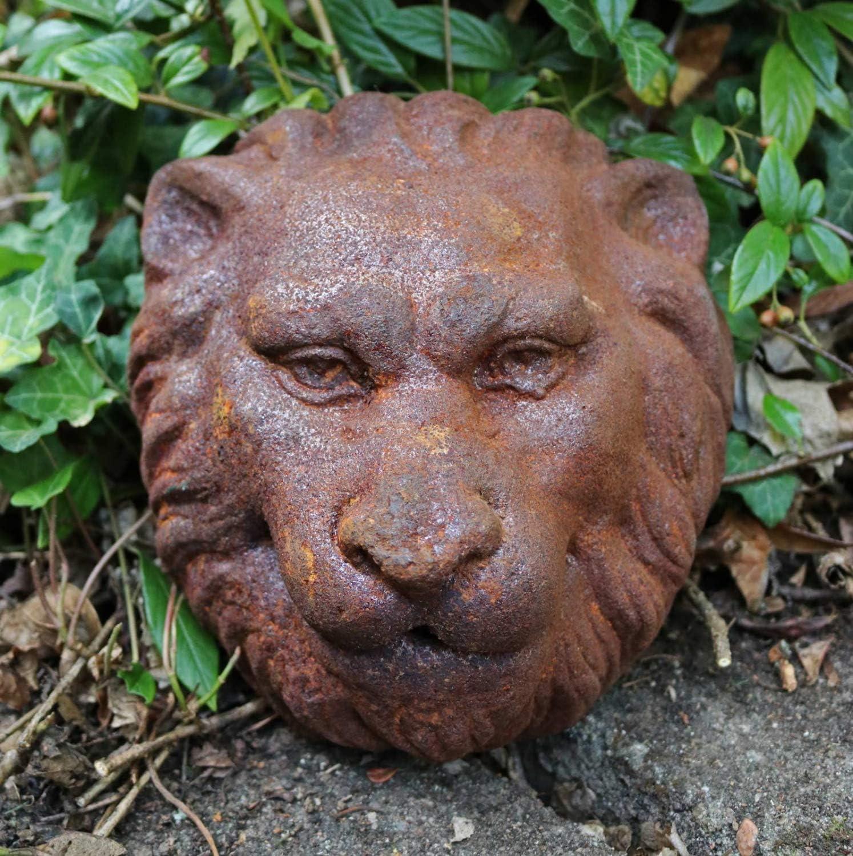 aubaho L/öwenkopf L/öwe Dekoration Eisen Wandbrunnen Wasserspeier Skulptur Figur f
