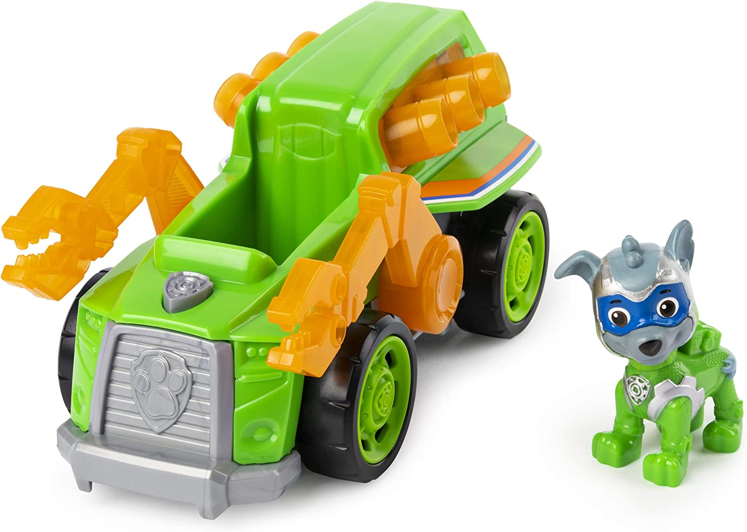 Paw Patrol Mighty Pups Super Paws Rocky S Deluxe Vehicle With Lights And Sounds
