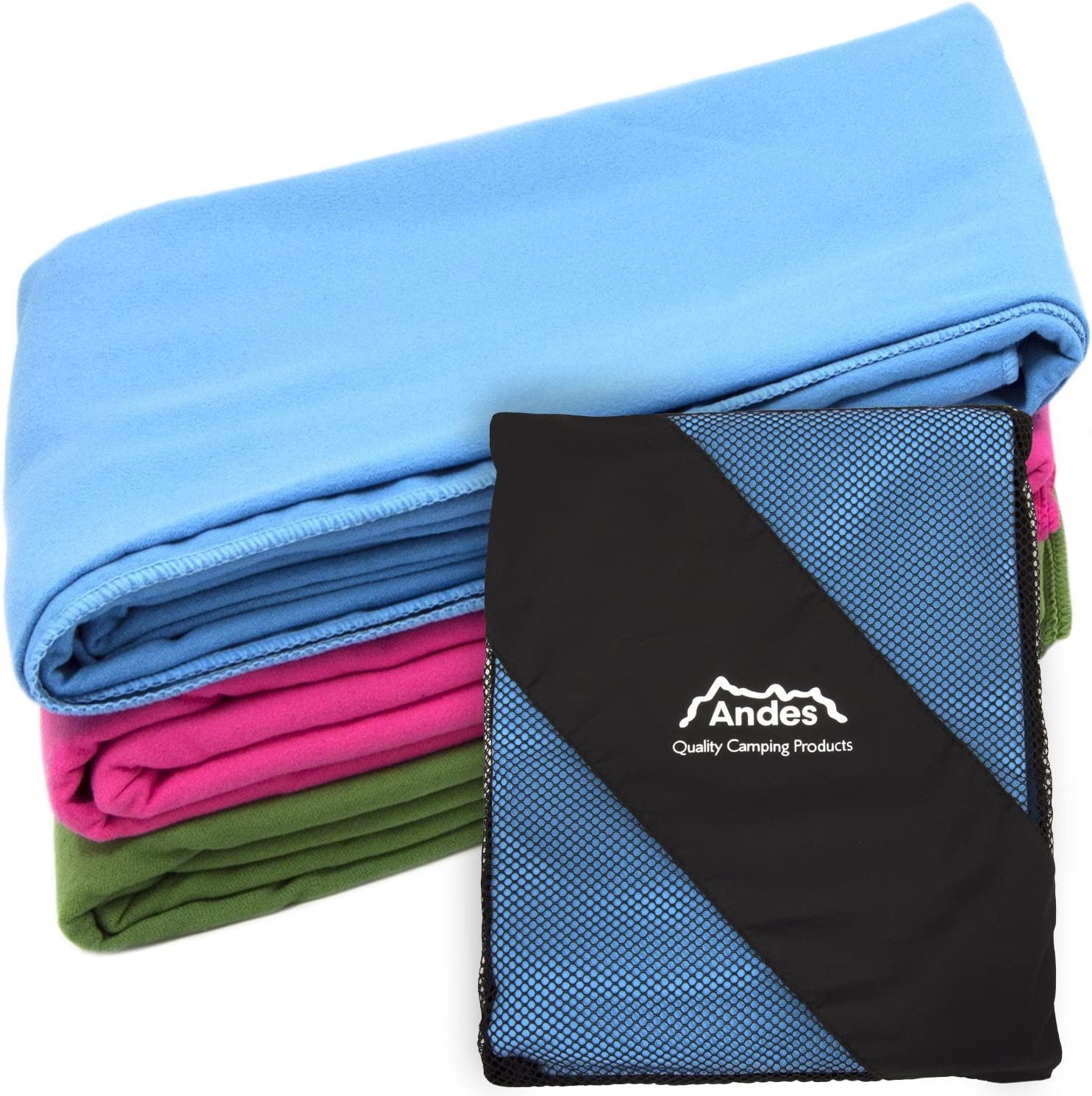 Andes Camping Anti Bacterial Microfibre Travel//Backpacking Towel