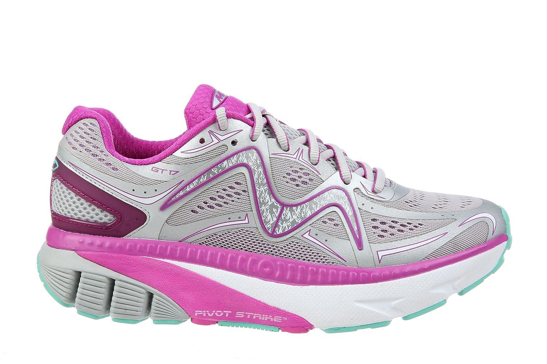 MBT Shoes Women's GT 17 Athletic Shoe Leather/Mesh Lace-up B0742MMX2Z 10 B(M) US|Grey/Purple