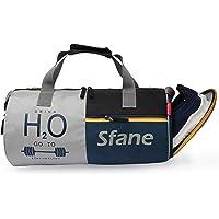 SFANE Black Gym Duffel Bag,Shoulder Bag for Men & Women with Separate Shoe Compartment (Navy Blue,Black)