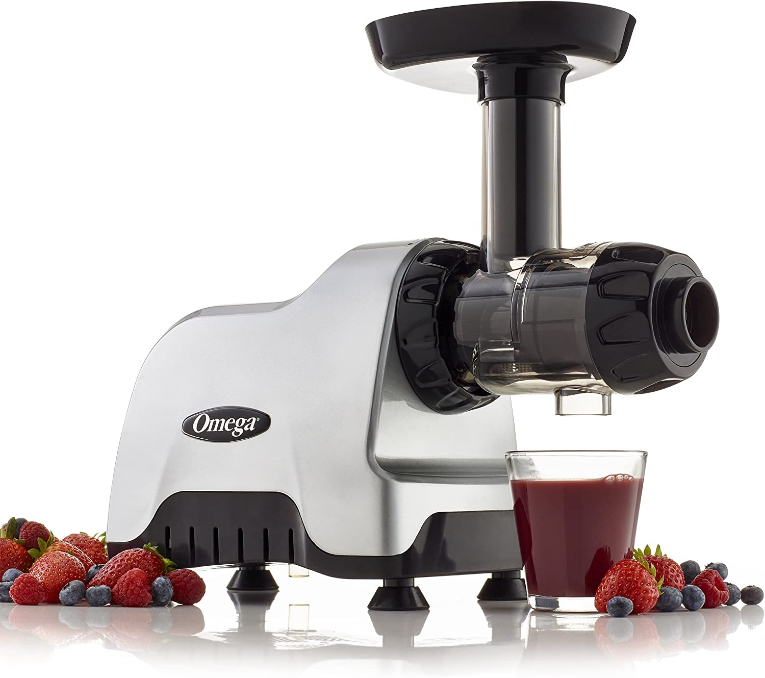 Omega CNC80S Compact Slow Speed Multi Purpose Nutrition Center Juicer with Quiet Motor Creates Continuous Fresh Healthy Fruit and Vegetable Juice at