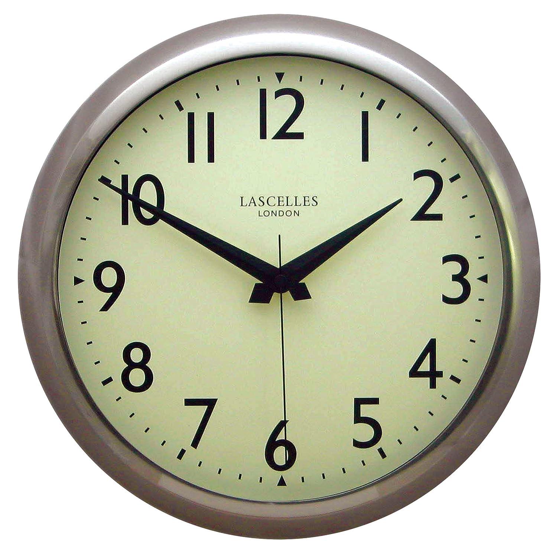 Retro Kitchen Wall Clocks Smiths Retro Wall Clock In Chrome 38cm Amazoncouk Kitchen Home