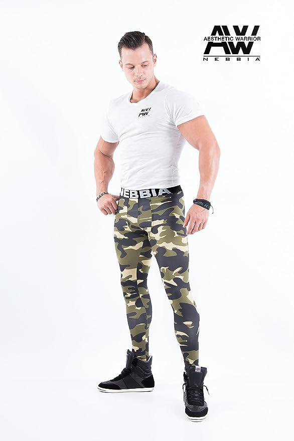 NEBBIA Camo Leggings AW 115 HERREN mens sporthosen fitnesshosen TRAINING LEGGING Leggings HOSE pant