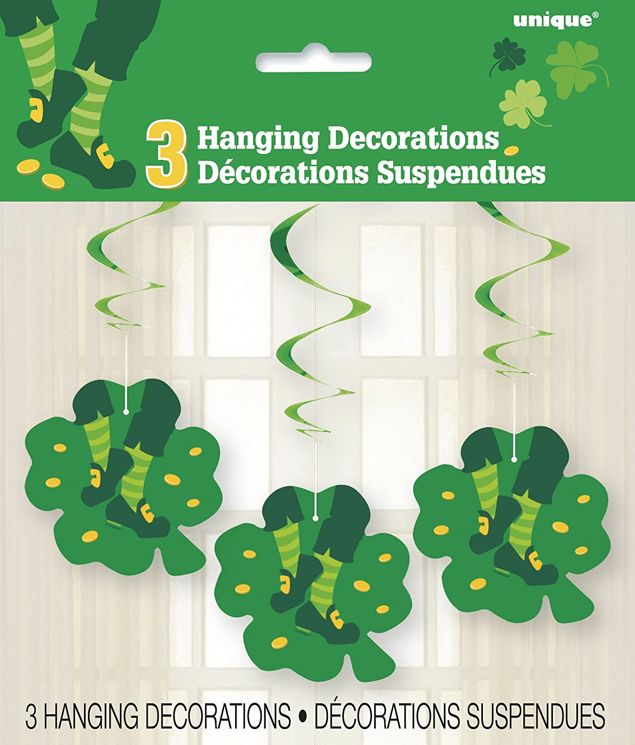 Unique Party 61672-14ft Multi-Patterned Happy St Patricks Day Paper Bunting Flags