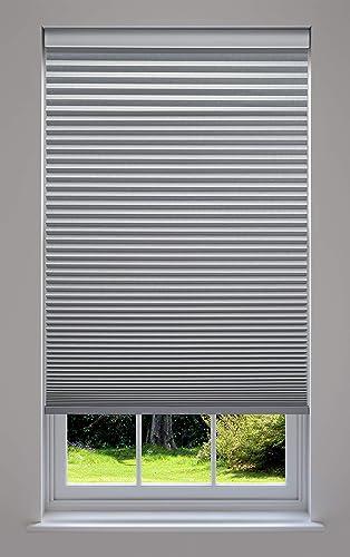 Decor Avenue Custom Cordless 53 W x 78 to 84 H Platinum Blackout Cellular Shade Inside Mount
