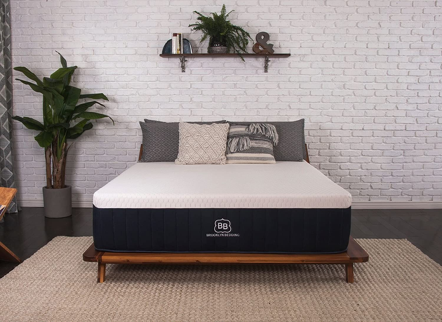 "Brooklyn Aurora 13"" Luxury Cooling Gel Hybrid Mattress, King Firm"