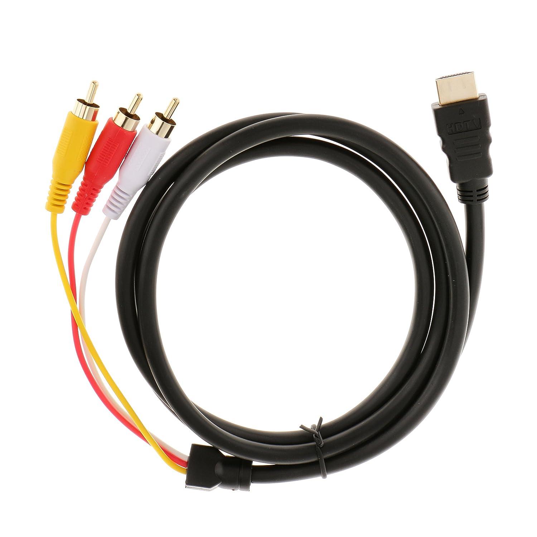 1,5 M HDMI Stecker Auf 3 Cinch Audio Video AV: Amazon.de: Elektronik