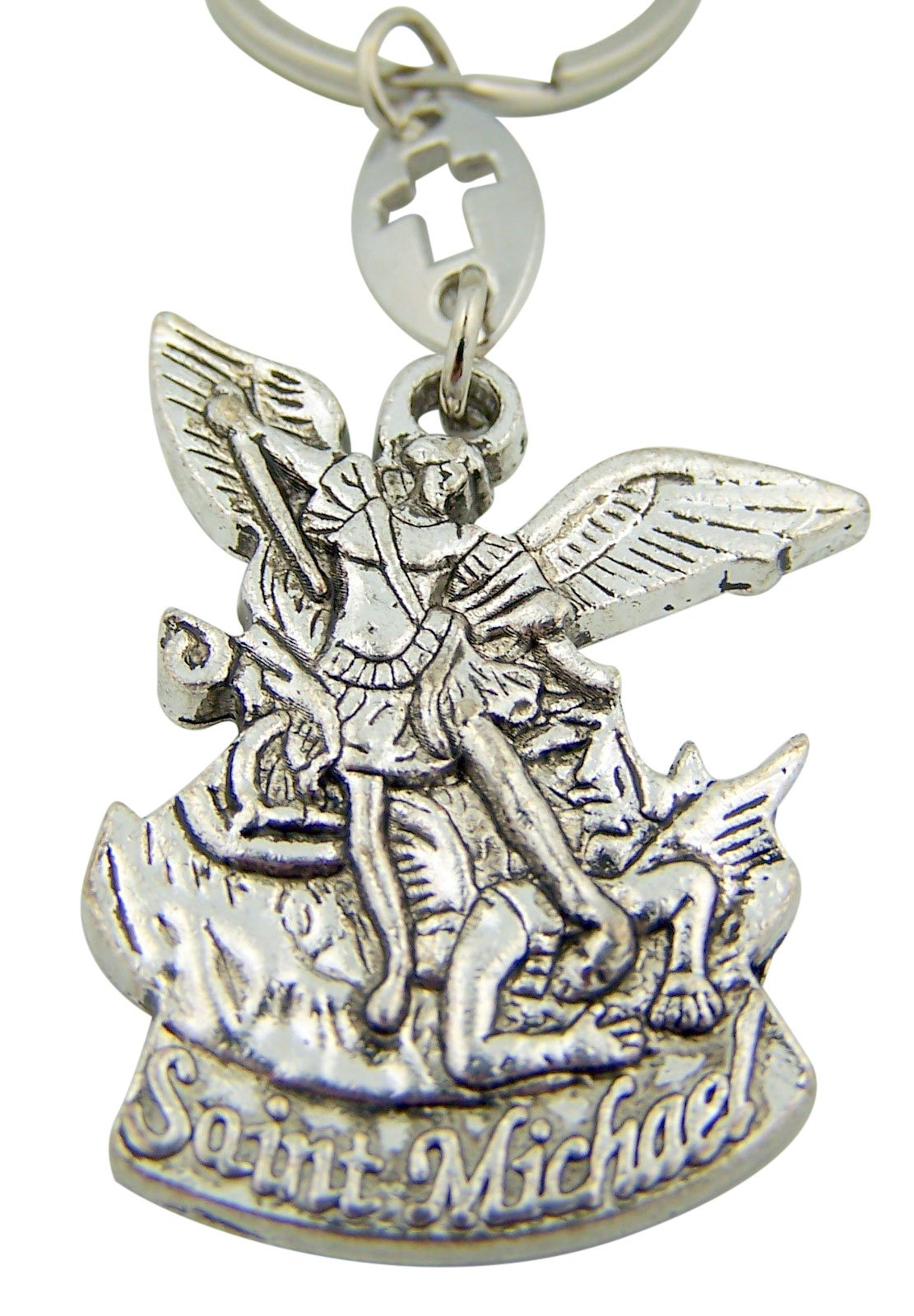 Religious Gifts Saint St Michael the Archangel Pray for Us Medal Travel Protection Key Chain