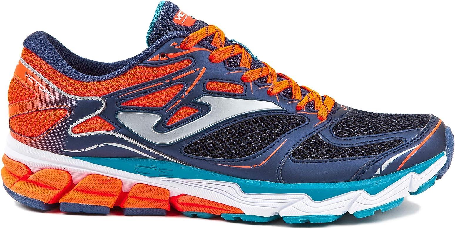 Joma Victory Men, Zapatillas de Trail Running para Hombre, Azul (Marino/Naranja 803), 42 EU: Amazon.es: Zapatos y complementos