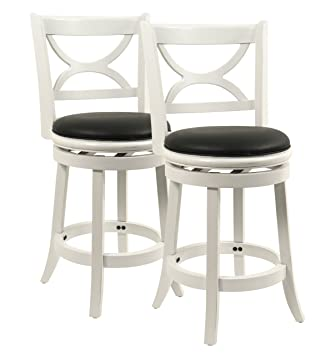boraam florence counter height stool 24inch distressed white 2