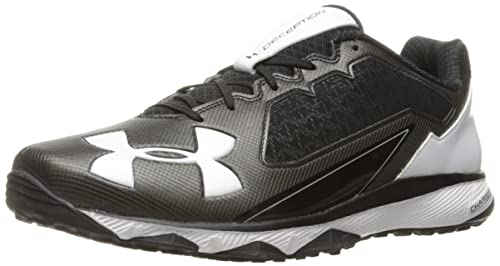 Under Armour Men's Deception Training Wide Baseball-Shoes, Black/White, 8  Medium