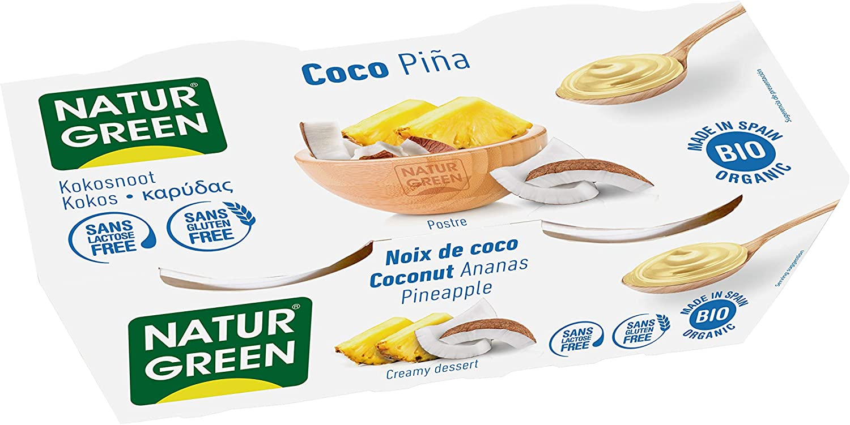 NaturGreen Postre tipo natillas Coco Piña Bio (2x125g) - 6 ...