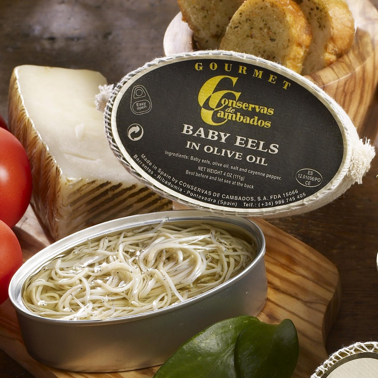 Amazon.com : Angulas - Tiny Baby Eels in Olive Oil : Grocery & Gourmet Food