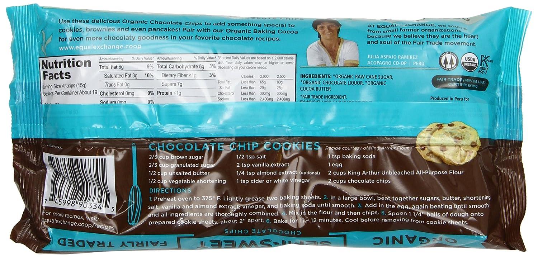 Amazon.com : Equal Exchange Organic Chocolate Chips, Semi-Sweet ...
