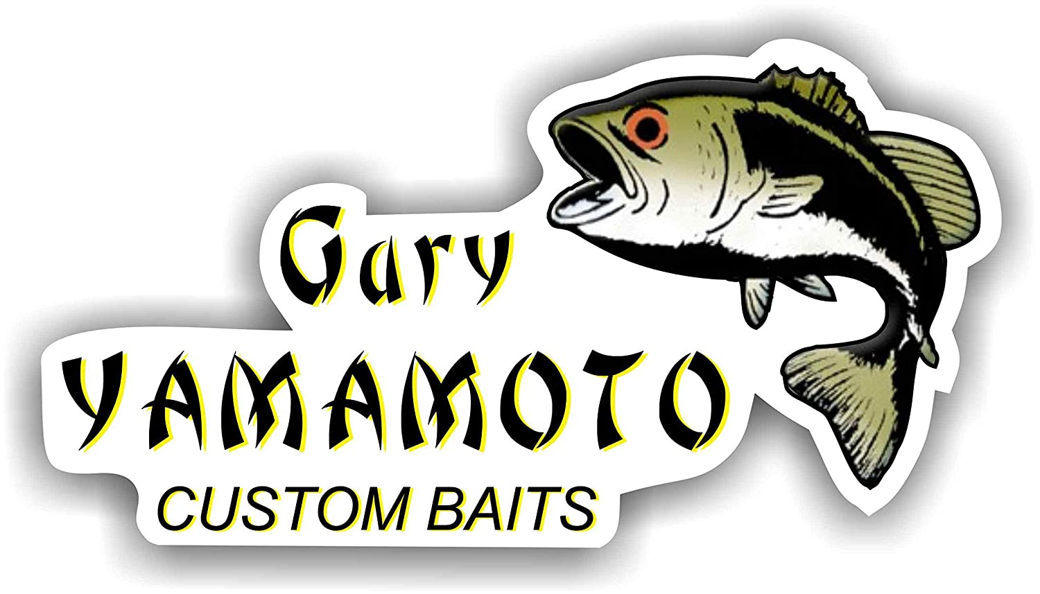 5 Gary Yamamto Decal Sticker Fishing Line Lures Rods Baits
