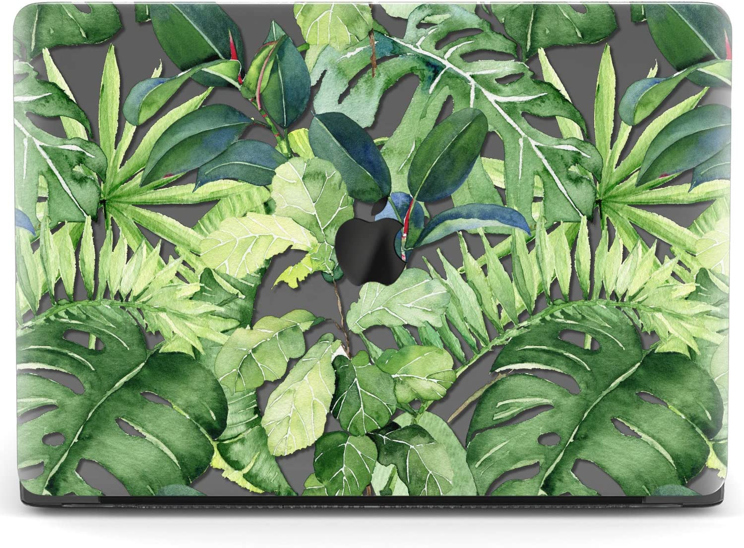 Mertak Hard Case for Apple MacBook Pro 16 Air 13 inch Mac 15 Retina 12 11 2020 2019 2018 2017 Shell Monstera Exotic Green Plastic Ficus Plants Clear Leaves Cover Protective Palm Laptop Design
