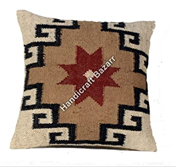 Pleasant Amazon Com Indian Vintage Outdoor Back Cushion Cover Caraccident5 Cool Chair Designs And Ideas Caraccident5Info