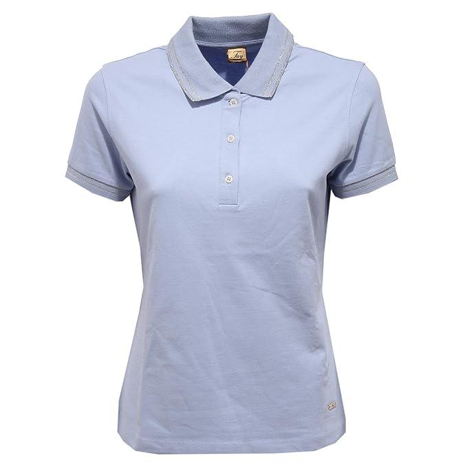 fef008485388d6 Fay 9169V Polo Donna Maglia Light Blue Polo t-Shirt Woman: Amazon.it:  Abbigliamento