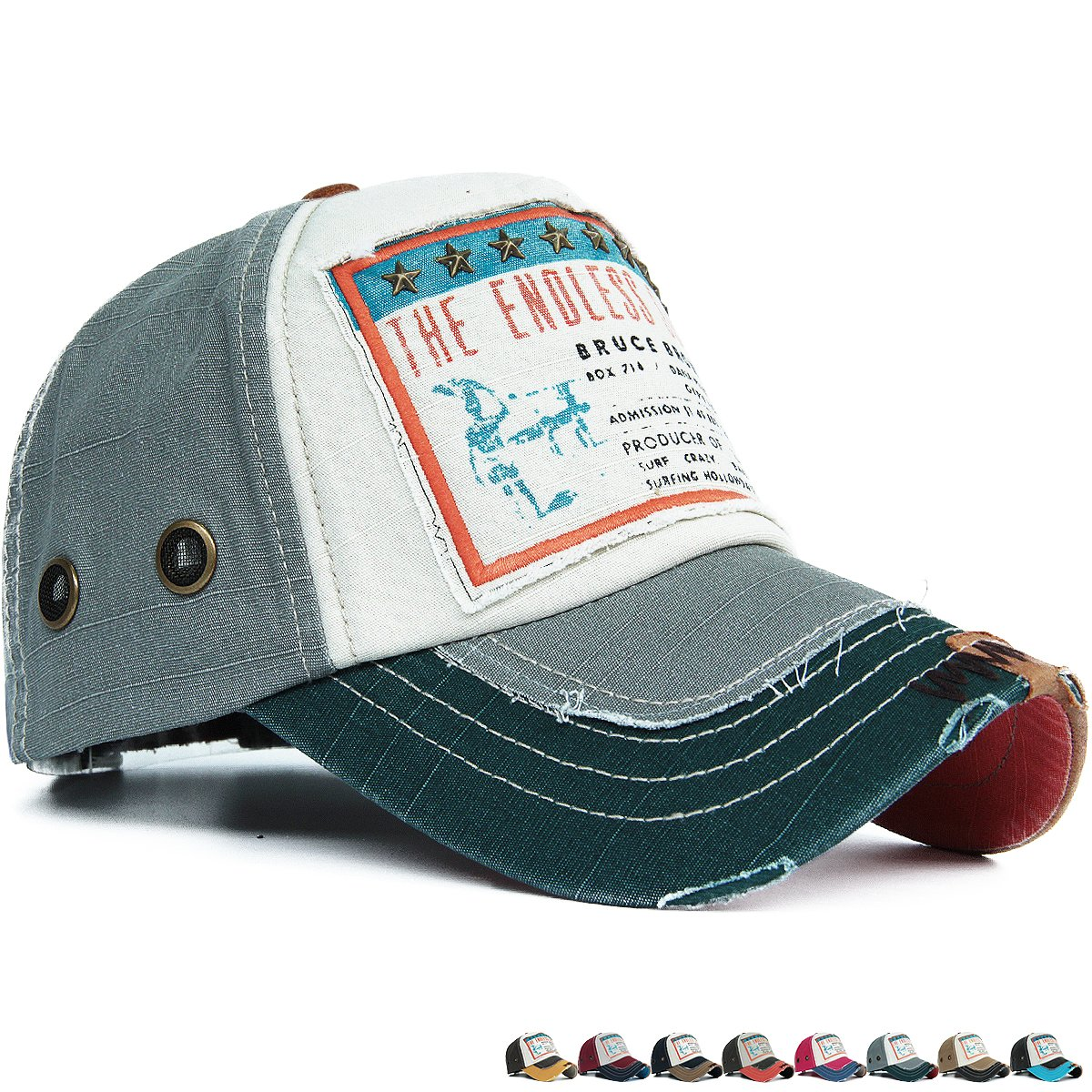 7e4626b4d1d9b6 Rayna Fashion Distressed Curved Brim Trucker Hat Baseball Cap Printed  Embroidered Patch Yellow at Amazon Women's Clothing store: