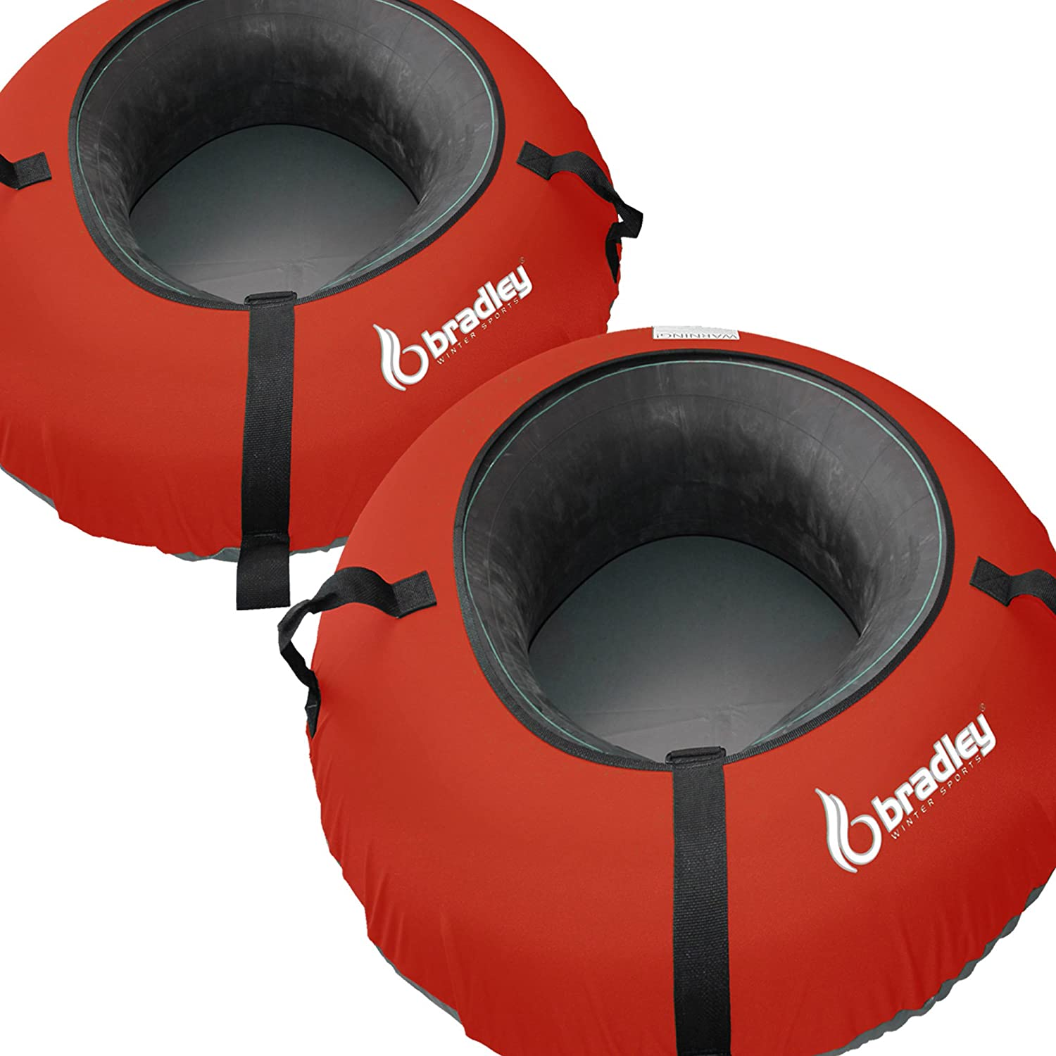 2 Heavy Duty Snow Sled Tubes W Red Cover Huge Rubber