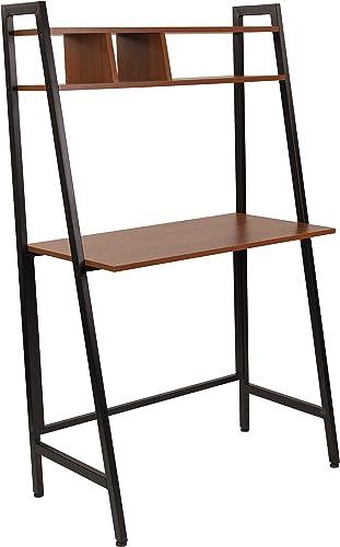 Flash Furniture Wilmette Cherry Wood Grain Finish Computer Desk - the best modern office desk for the money