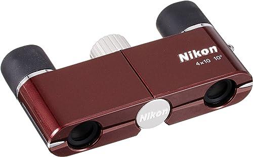 Nikon Binoculars Yu 4X10D CF Wine Red