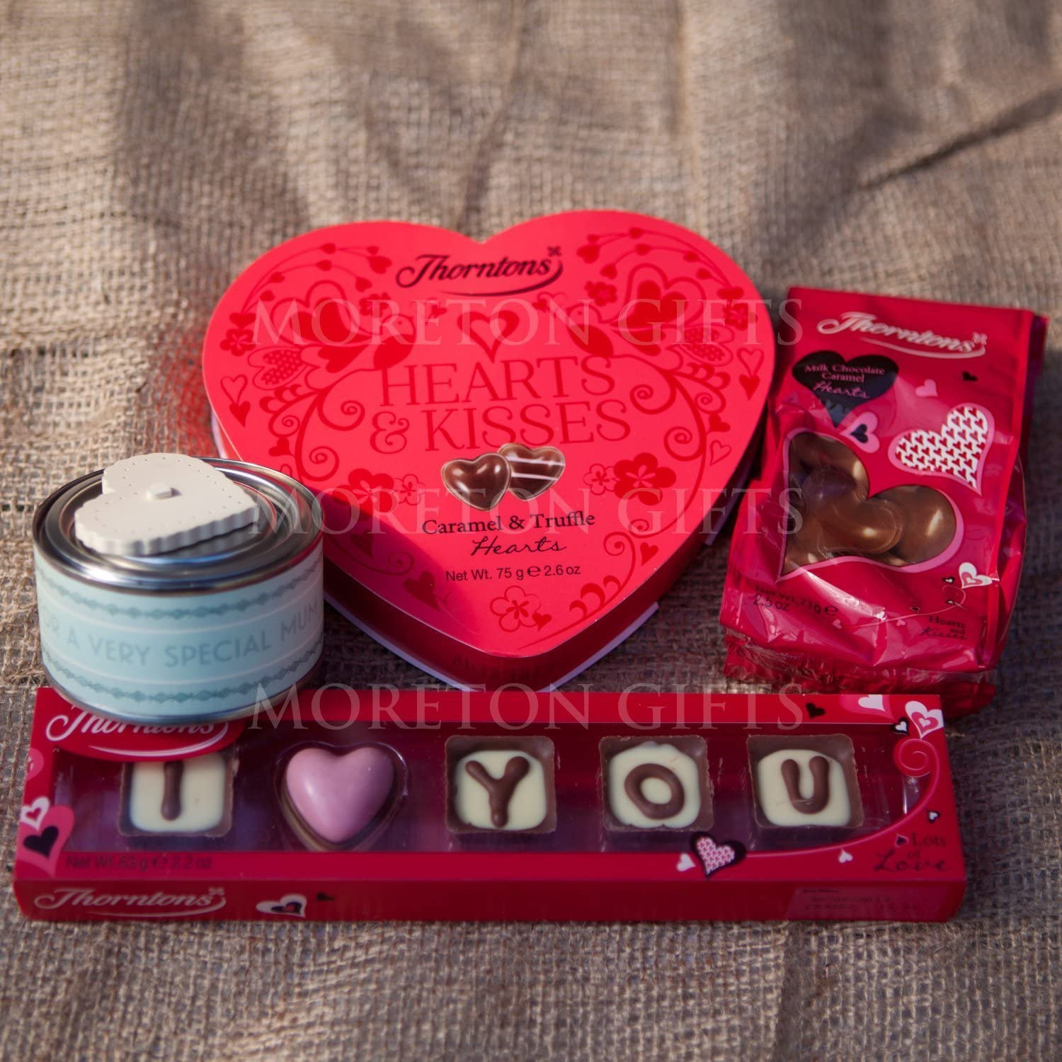 Thorntons Luxury Chocolate Valentines Love Box I You Hearts Kisses Lollypop Chocolates Treat Bags By Moreton Gifts Great Romantic Premium Gift Amazon Co Uk Grocery