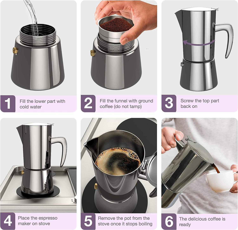 Terrific 2-Cup Percolator Herd Top Kaffeemaschine Espresso Edelstahl Top  X
