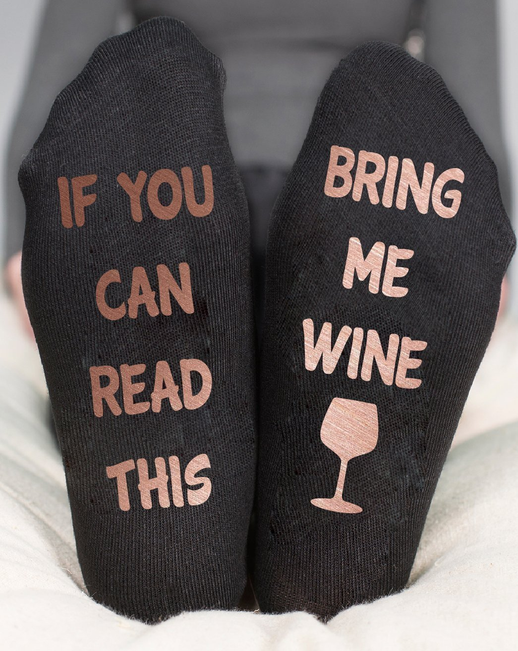 If You Can Read This Bring Me Wine Socks Funny Birthday Gift
