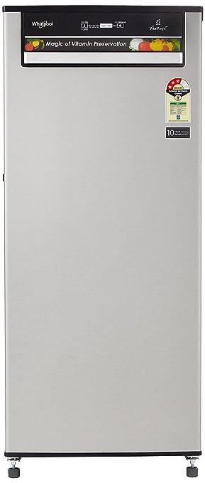 Whirlpool 215 L 3 Star Direct Cool Single Door Refrigerator 230 VITAMAGIC PRO PRM 3S, Alpha Steel  Refrigerators