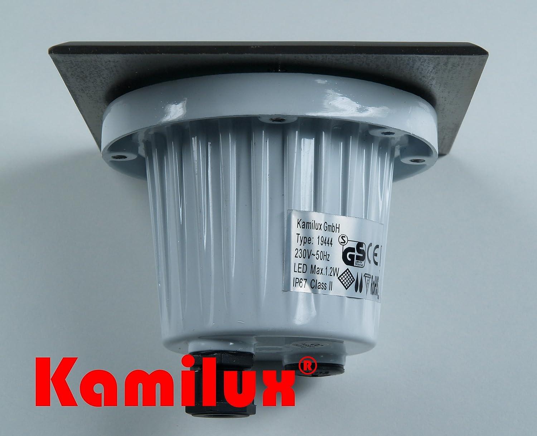 LED 1,2Watt Bodenspots Terrasse Bodenstrahler Aussenspots 230V IP67 Spots