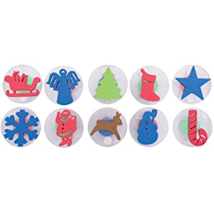 Center Enterprises Inc. Ready2Learn Giant Stampers, Christmas, 10/Set