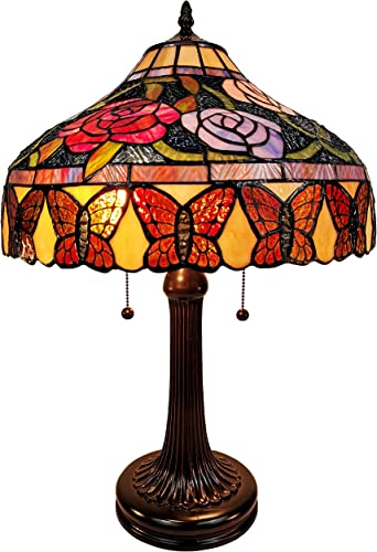 Amora Lighting AM060TL16B Tiffany Style Table Lamp, Multi