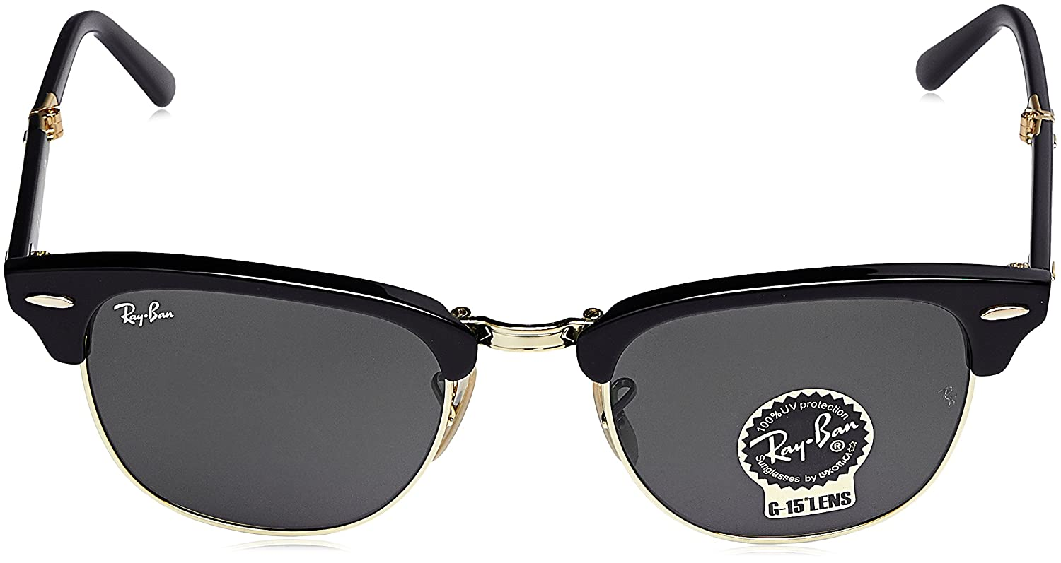 9a1808f9161 Amazon.com  Ray-Ban Clubmaster Folding Square Sunglasses