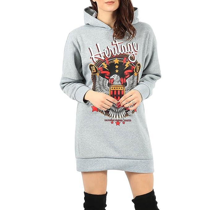Simply Chic Outlet - Sudadera con capucha - Sudaderas - para mujer negro plateado Medium: Amazon.es: Ropa y accesorios