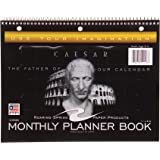"""Roaring Spring Undated Calendar Notebook, 11"""" x 8,5"""", 13 sheets, Monthly Format, Caesar Graphic Cover"""
