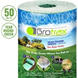 Grotrax Biodegradable Grass Seed Mat, Year Round Green - 50 Sq Ft Quick Fix Roll - All in One Growing Solution for Lawns…