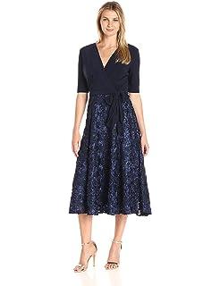 38dc9579a3 Alex Evenings Women s 2 Piece Tea Length Jacket Dress with Sequin ...