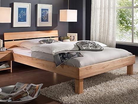 Jugendbett Bett Einzelbett Massivholz 140x200 Kernbuche