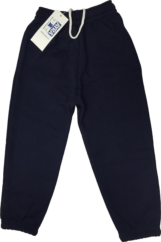Boys Girls Childrens Kids School PE Fleece Jogging Tracksuit Bottoms Trousers Ayra