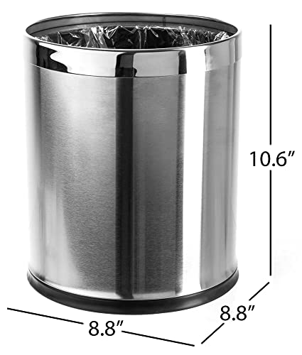 Gallon Stainless Steel Trash Can Home Improvement Galvanized Hopeful