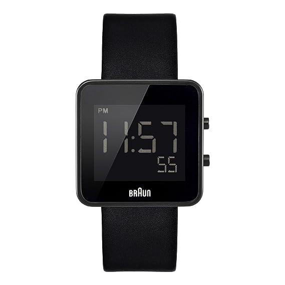 Braun BN0046BKBKG - Reloj digital de caballero de cuarzo con correa de piel, color negro: Amazon.es: Relojes