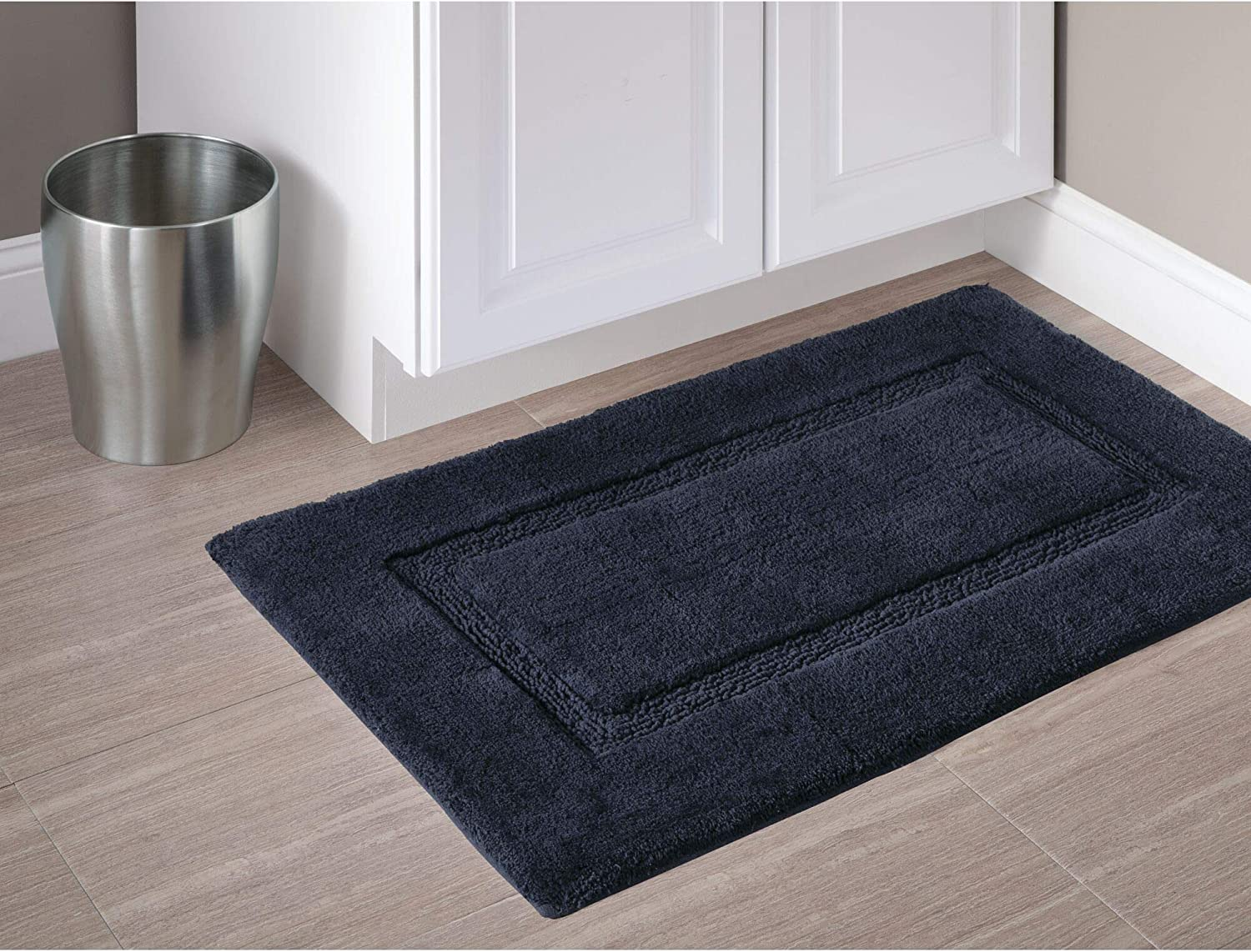 21 x 34 and Kids Bathroom Guest iDesign  Spa Plush Cotton Bath Mat Shower Accent Rug for Master Gray