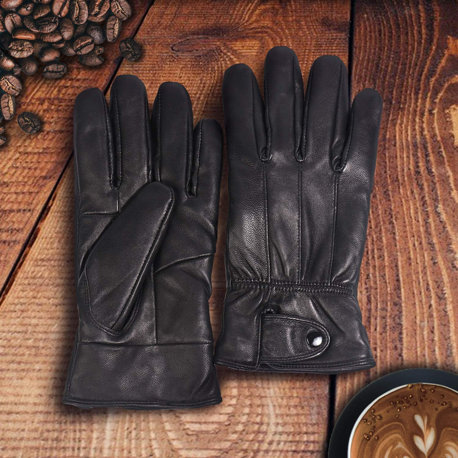 Mens GENUINE Driving Leather Gloves  TC350A