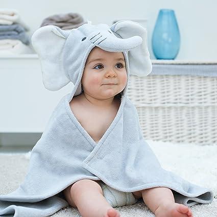 Toalla de bebé con forma de elefante, ...